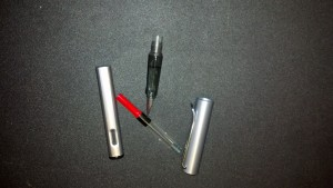 Lamy in pieces showing converter.