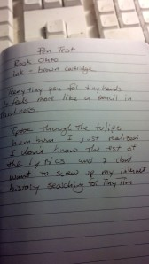 Writing test