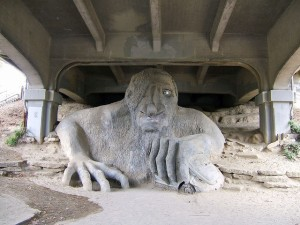 I forgot to get a picture and his site is grumptroll.com so Fremont Troll it is.
